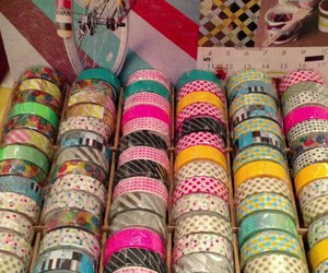 cool, div, and washi tape image