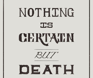 black and white, death, and hand lettering image
