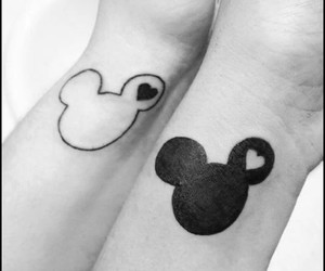black and white, heart, and ink image