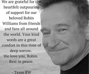 robin williams and r.i.p image