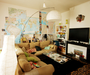 living room and maps image