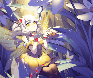 elsword, eve, and fairy image