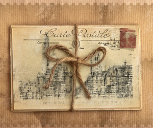 vintage, letters, and postcard image