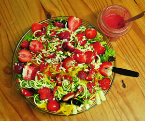 fruit, greens, and healthy image