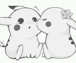 pikachu, pokemon, and kiss image