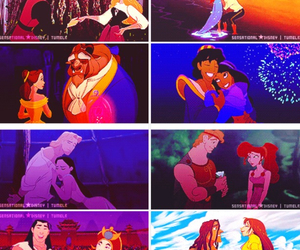 belle and the beast, ariel and prince eric, and tiana and naveen image