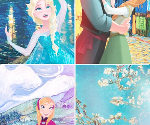 art work, disney, and frozen image