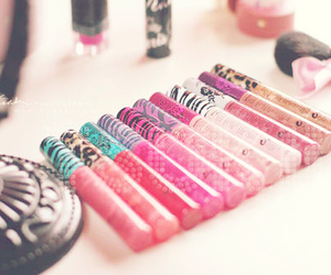 cosmetics, glitter, and pink image