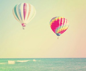 beautiful, sea, and balloons image