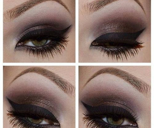 makeup, eyeliner, and black image