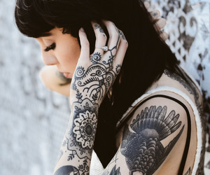 tattoo, hannah snowdon, and black and white image
