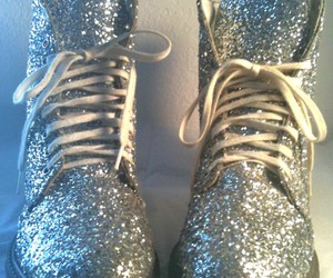 shoes, glitter, and silver image