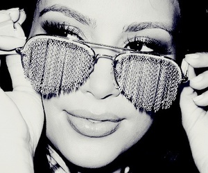 kim kardashian, glasses, and sunglasses image