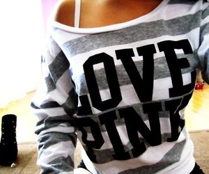 shirt and love pink image