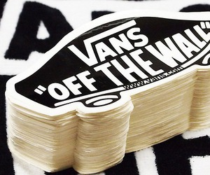 vans, sticker, and vans off the wall image