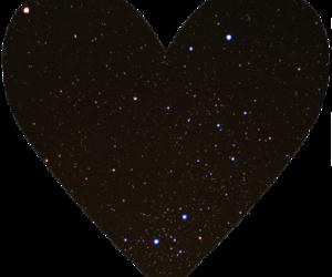 corazon, galaxy, and glitter image