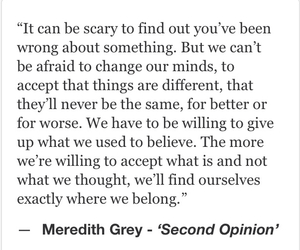 life, meredith grey, and quotes image