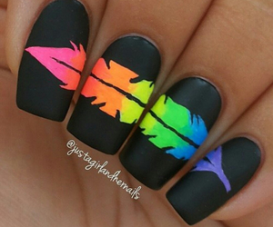 colorful, nail art, and pretty image