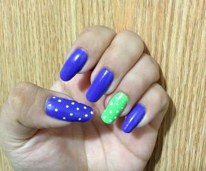 green, morado, and nails image