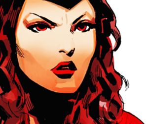 art, Marvel, and scarlet witch image
