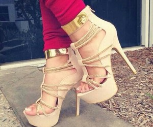 high heels, shoes, and pants image