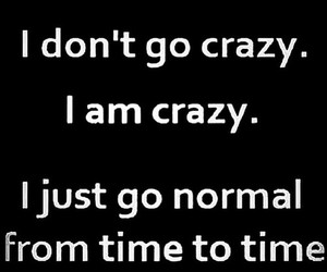 crazy, normal, and quote image