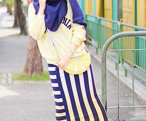 blue, fashion, and hijab image