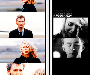 billie piper, the doctor, and david tennant image