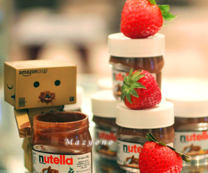 nutella, strawberry, and danbo image