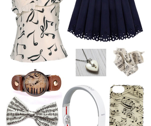 fashion, musical, and notes image