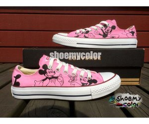custom shoes, mickey mouse, and wedding present image