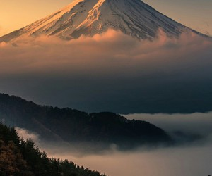 nature, mountains, and japan image