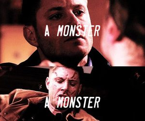 dean winchester, monster, and supernatural image