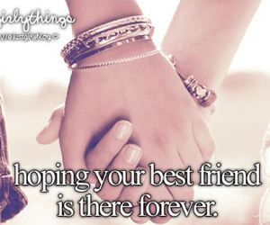 best friend, friendship, and hoping image