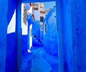 alley, hallway, and blue image