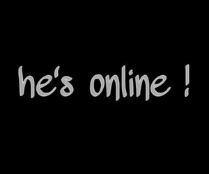online, he, and love image