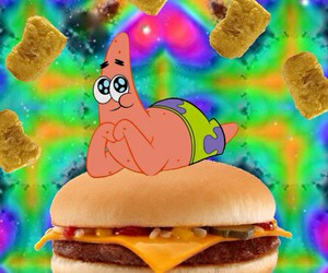 food, wallpaper, and patrick image