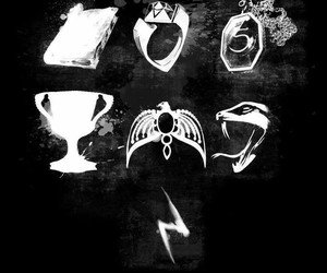 harry potter, book, and horcruxes image