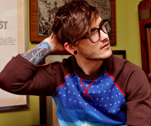 boy, tattoo, and glasses image