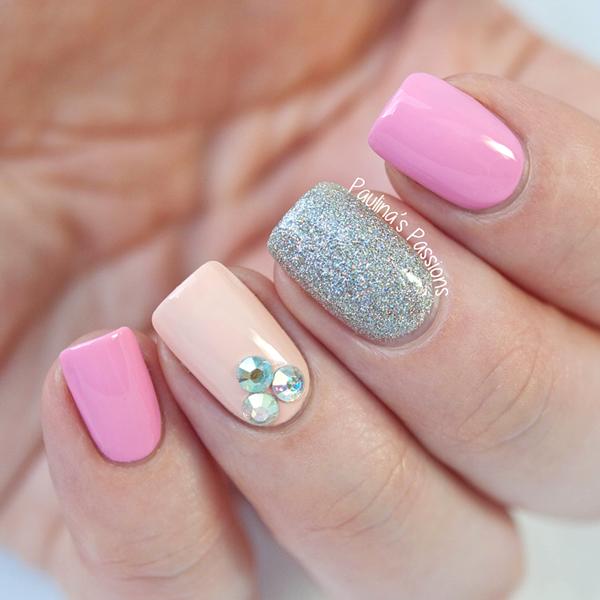Nail Art Pink Bling Nailarts Ideas