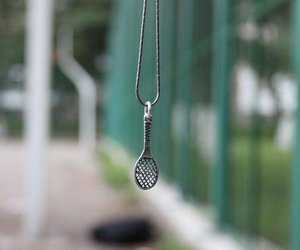 badminton, necklace, and racket image