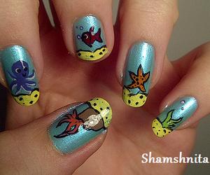 nail art, sea, and nails image