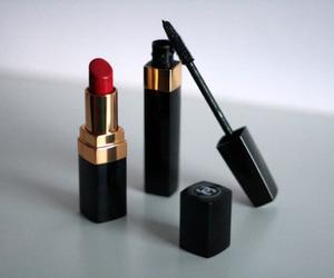 chanel, lipstick, and mascara image