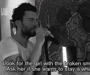 maroon 5, Lyrics, and she will be loved image