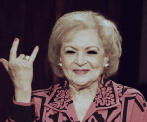 betty white, funny, and rock image