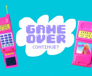 90s, barbie, and gameover image