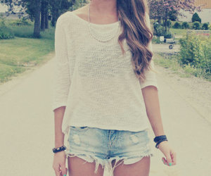 fashion, girl, and shorts image
