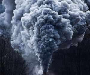 train and smoke image