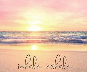 beach, exhale, and inhale image