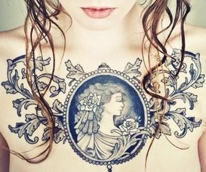 tattoo, girl, and art image